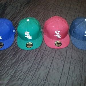 Lot of 4 New Era Chicago Whitesox Fitted Hats